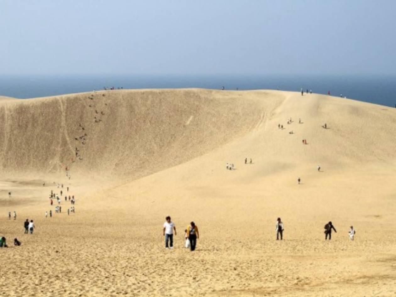 Ιαπωνία: Απίθανες εικόνες με αμμόλοφους!