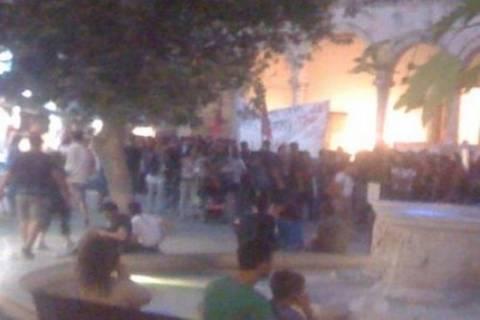 Αντιφασιστική πορεία στο Ηράκλειο - Ισχυρά τα αστυνομικά μέτρα