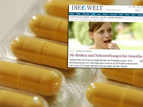 «Επικίνδυνα τα ανώνυμα γενόσημα»... λέει η «δική σας» Welt, κ. Μέρκελ!