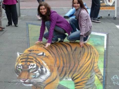 Απίστευτες εικόνες από 3D τέχνη του δρόμου