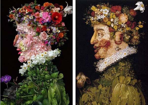 Απίθανα πορτρέτα με φρούτα και λουλούδια