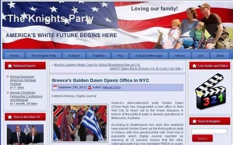 Χρυσή Αυγή: Η Κου Κλουξ Κλαν μας αναγνωρίζει ως ομόαιμο κόμμα