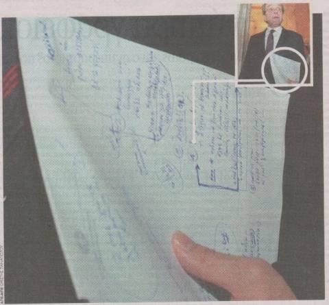 Τι έγραφε στο μπλοκάκι του ο Σαμαράς