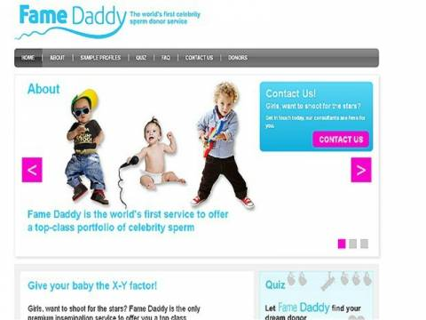 Βρετανικό site προσφέρει σε γυναίκες σπέρμα διασήμων αντρών!