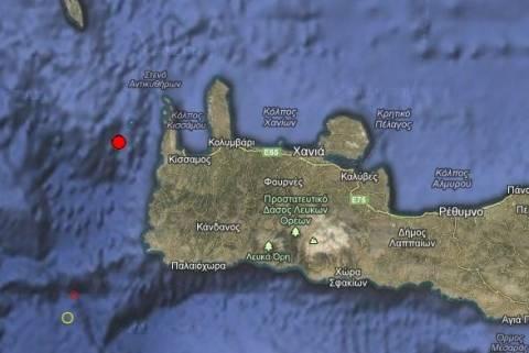 Σεισμός 3,5 Ρίχτερ δυτικά των Χανίων