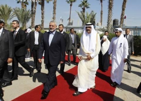 Ο εμίρης του Κατάρ στη Λωρίδα της Γάζας