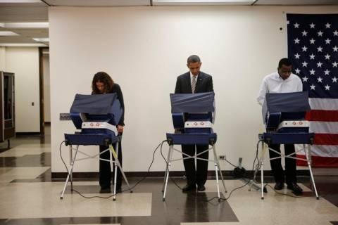 ΗΠΑ: Ο Ομπάμα ψήφισε δύο εβδομάδες νωρίτερα...