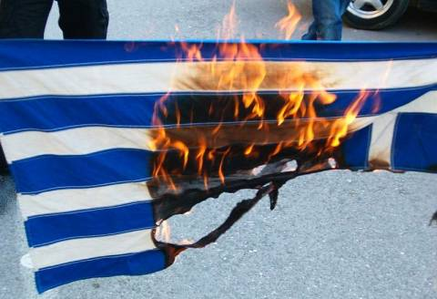 Έκαψαν ελληνική σημαία στο Διδυμότειχο