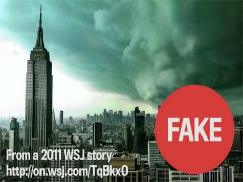 Τυφώνας Σάντι: Αληθινές και ψεύτικες φωτογραφίες στο διαδίκτυο!