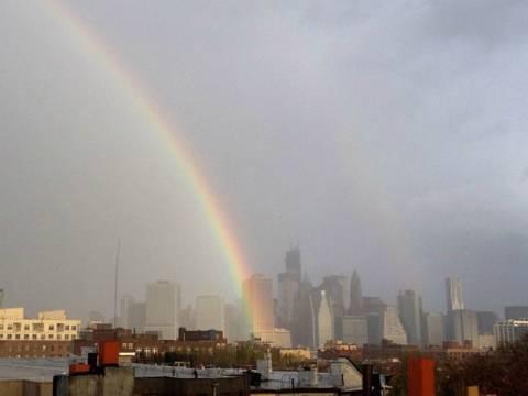 Τυφώνας Σάντι: Το ουράνιο τόξο πάνω από τη Νέα Υόρκη