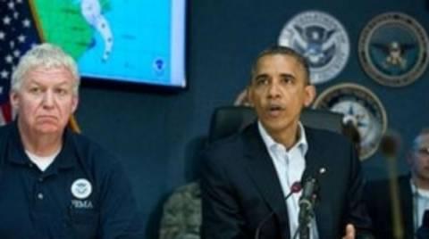 Ο Ομπάμα αναβάλλει τις προεκλογικές εκδηλώσεις λόγω της Σάντι