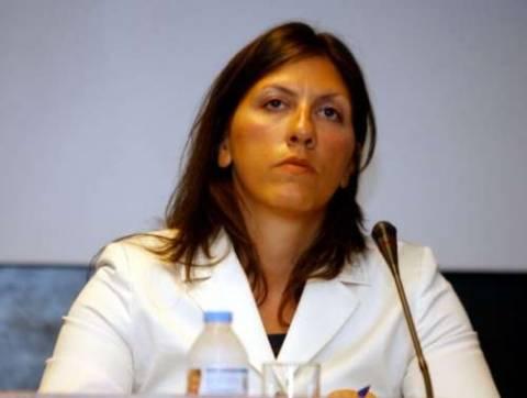 Η Ζ.Κωνσταντοπούλου ζητεί τα έγγραφα για τις συναντήσεις στο Nταβός