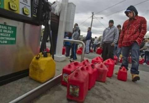 Ουρές για βενζίνη στα πρατήρια της Νέας Υόρκης