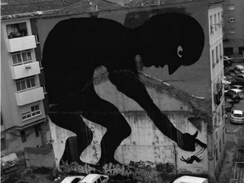 Απίθανες φωτογραφίες με γιγάντια γκράφιτι!