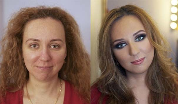 Απίστευτη διαφορά: Γυναίκες πριν και μετά το μακιγιάζ