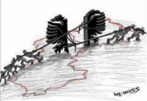 Γελοιογραφία των New York Times για την Μεγάλη Αλβανία