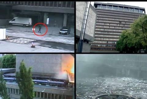 Βίντεο: Ο Μπρέιβικ λίγο πριν από την έκρηξη στο Όσλο