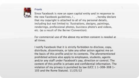 Τα ανούσια status στο Facebook ΔΕΝ διασφαλίζουν την ιδιωτικότητά σου