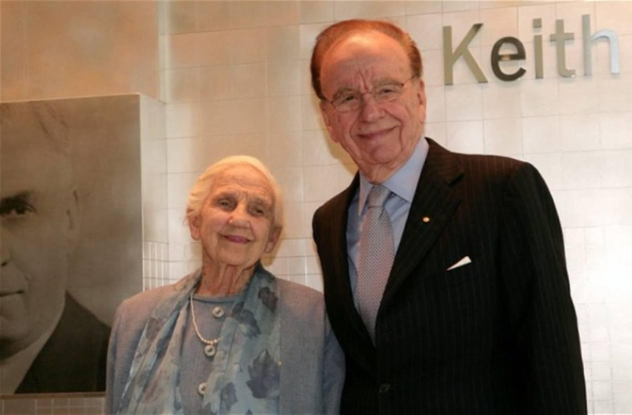 Πέθανε η υπεραιωνόβια μάνα του μεγιστάνα Μέρντοχ