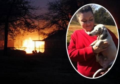 Συγκλονιστικό: Ανάπηρη σκυλίτσα έσωσε οικογένεια από τις φλόγες!
