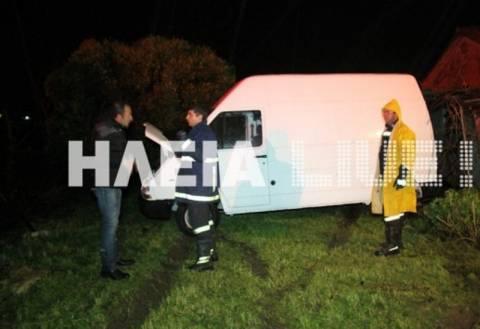 Θύελλα στην Ηλεία συμπαρέσυρε αυτοκίνητα στο πέρασμά της