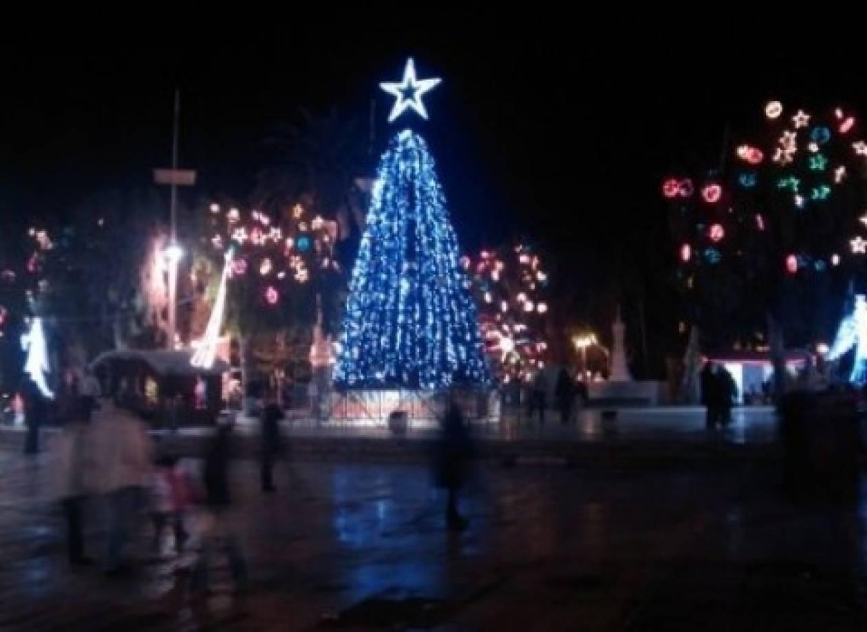 Ηράκλειο: Αναβάλλεται η φωταγώγηση του δέντρου μετά το δυστύχημα