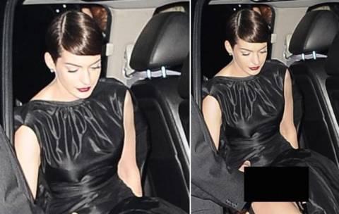 Η Anne Hathaway λυπημένη για το γυμνό «ατύχημα»