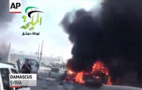 Βίντεο-σοκ από την αεροπορική επιδρομή στη Δαμασκό
