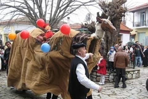 Αναβιώνει τo έθιμο της Γαλάτιστας Χαλκιδικής με την καμήλα