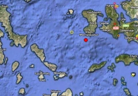 Σεισμός 3,3 Ρίχτερ στη Χίο