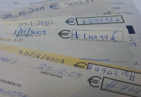 Σε 1,3 δισ. ευρώ ανήλθε η αξία των ακάλυπτων επιταγών το 2012