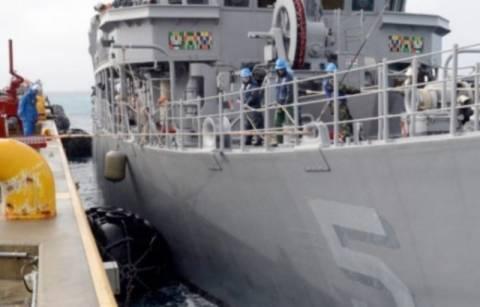 Αμερικανικό ναρκαλιευτικό προσάραξε στις Φιλιππίνες