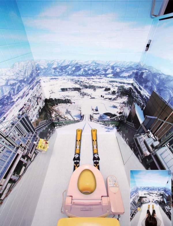 Τουαλέτα σαν να κάνεις... σκι!