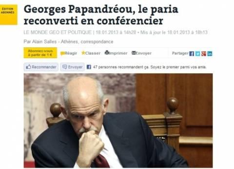 Le Monde: Ο παρίας Παπανδρέου μετατράπηκε σε κονφερασιέ