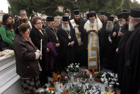 Τρισάγιο στη μνήμη του Χριστόδουλου από τον Αρχιεπίσκοπο Ιερώνυμο