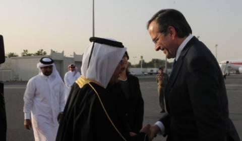 Συνάντηση Σαμαρά με τον Εμίρη του Κατάρ και τον διάδοχο του θρόνου