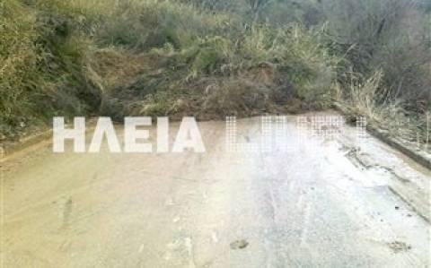 Κλειστός λόγω κατολίσθησης ο δρόμος Κρέστενας - Ανδρίτσαινας