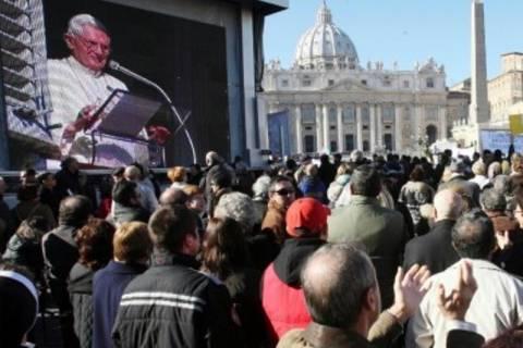 Πάπας Βενέδικτος: Φεύγω για το καλό της Εκκλησίας
