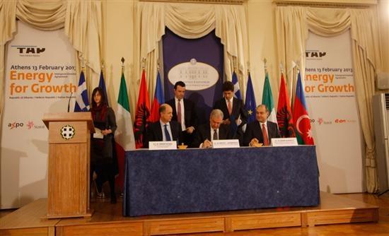 Υπεγράφη η συμφωνία για τον Αγωγό TAP