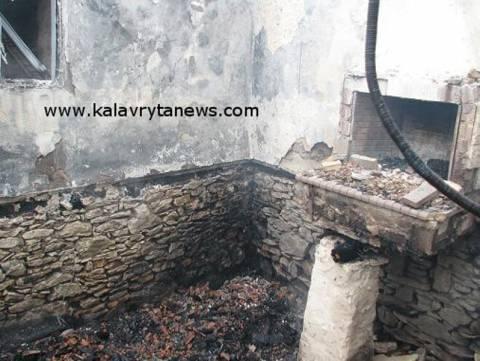 Απανθρακώθηκε ηλικιωμένη όταν πήρε φωτιά το τζάκι της(pics)