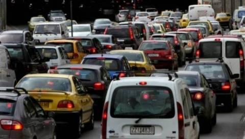 Κυκλοφοριακό χάος στην Αθήνα λόγω Ολάντ και βροχής
