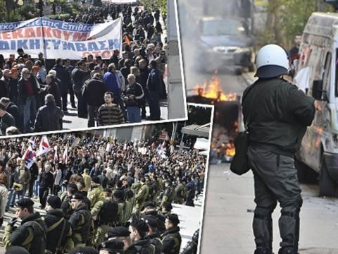 Mε μεγάλη συμμετοχή οι πορείες στο κέντρο της Αθήνας