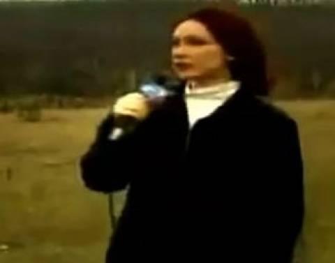 UFO την ώρα που δημοσιογράφος μιλούσε!