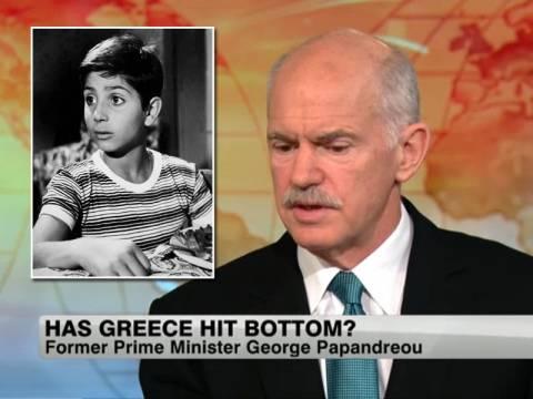 Βίντεο: Ο Παπανδρέου στο CNN ως Βασιλάκης Καΐλας