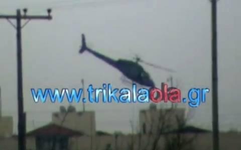 Νέο βίντεο από τη στιγμή που το ελικόπτερο είναι πάνω από τις φυλακές