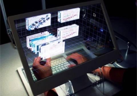 «Διάφανος» υπολογιστής επιτρέπει να αγγίζεις το ψηφιακό περιεχόμενο