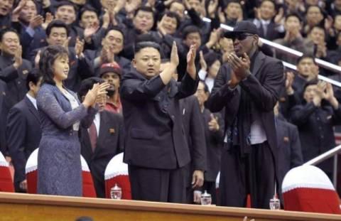 Ο Ντένις Ρόντμαν συνάντησε τον ηγέτη της Β. Κορέας