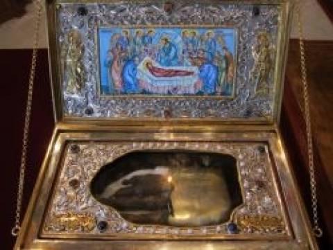 Το ιερό λείψανο της Αγίας Μαρίνας στην Ιερά Αρχιεπισκοπή Κύπρου