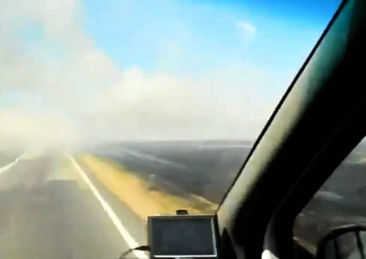 Βίντεο: Η χαμηλή ορατότητα προκάλεσε σοβαρό τροχαίο