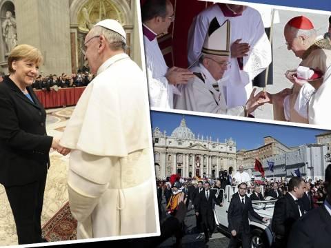 Χιλιάδες πιστών στην τελετή ενθρόνισης του Πάπα Φραγκίσκου